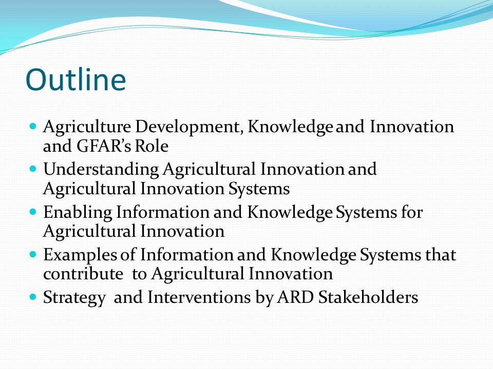 innovation in agriculture Innovation in agriculture: the path forward 2 analytics cloud-based advanced analytical solutions process data for growers and manufac-turers.