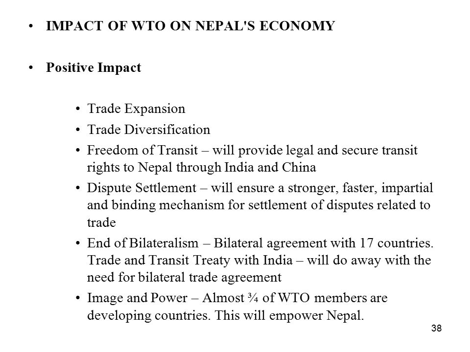 Impacts of Wto on Trading Countries
