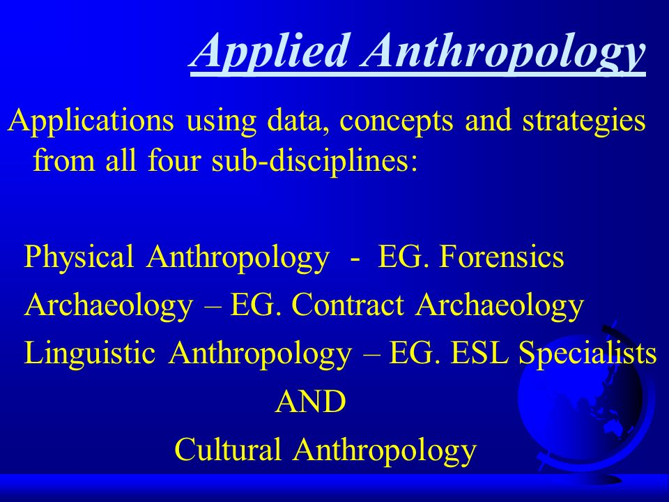 4 anthropological concepts applied Written by flourish itulua-abumere published by: upublishinfo website: wwwflourishabumerecom sociological concepts of culture and identity article summary: the.