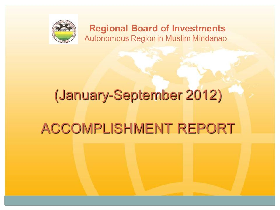 Accomplishment Report - Ppt Download