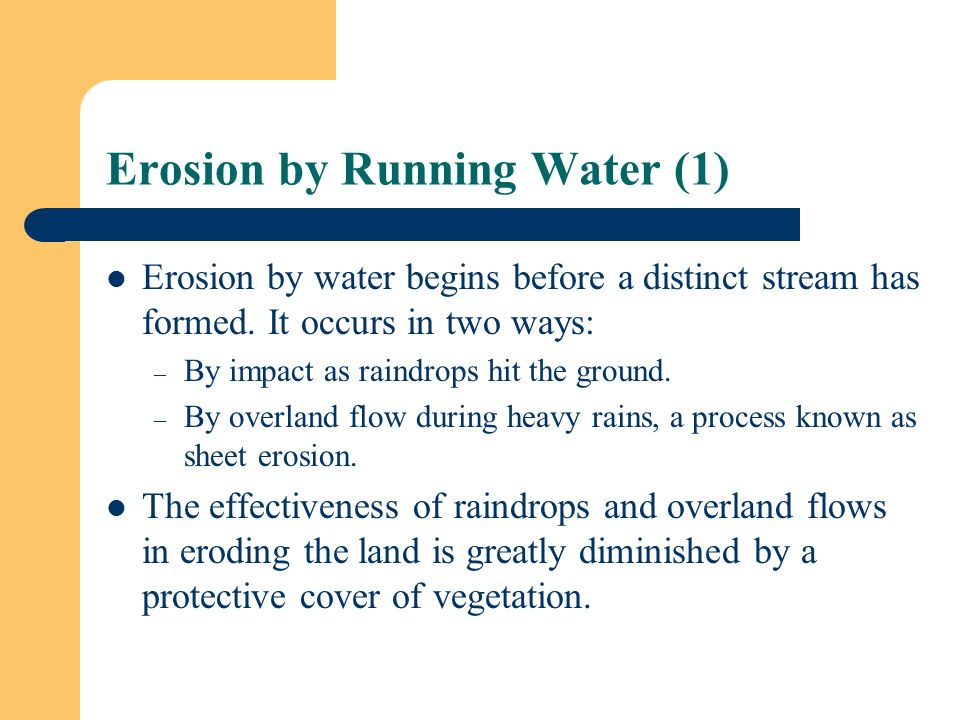 Erosion by Running Water (1)