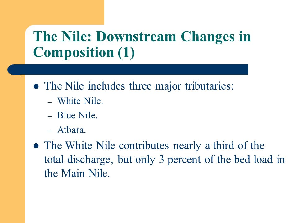 The Nile: Downstream Changes in Composition (1)