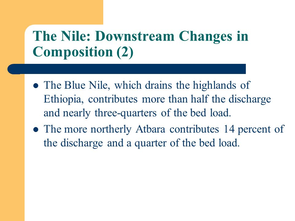 The Nile: Downstream Changes in Composition (2)