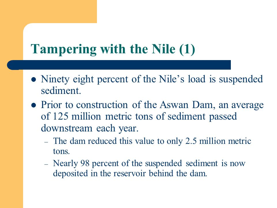 Tampering with the Nile (1)