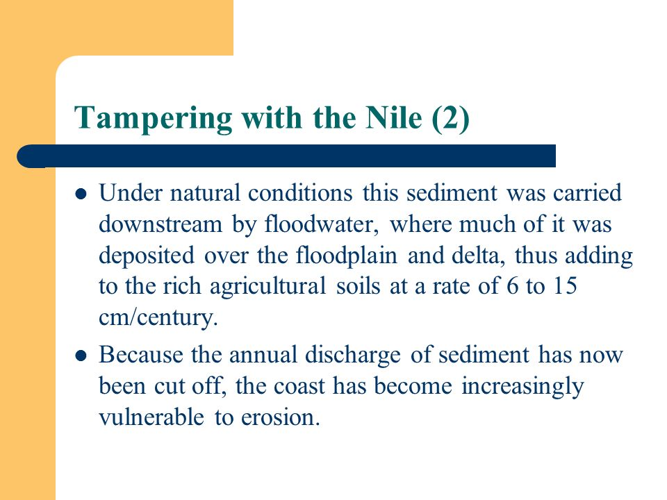 Tampering with the Nile (2)