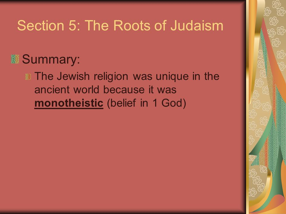 Section 5: The Roots of Judaism