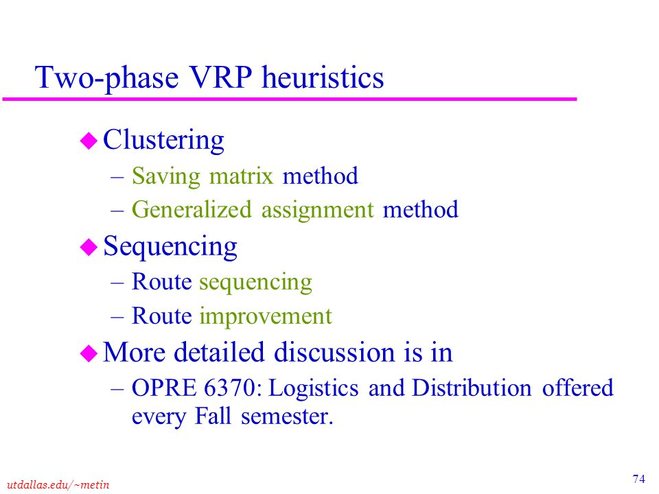 opre 6370 logistics and distribution assignment Ut dallas syllabus for opre6302mbc08s taught  – opre 6370: logistics and distribution by prof  for opre6302mbc08s taught by metin cakanyildirim (metin.