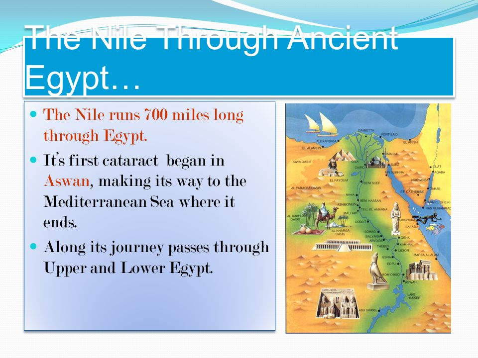 "Chapter 3 Section 1 ""There would be no Egypt without the ..."