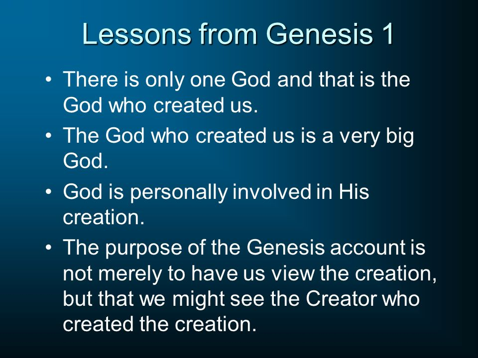 The Six Days Of Creation Ppt Video Online Download