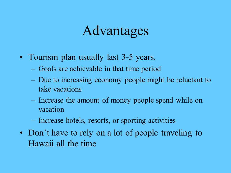 what are the advantages of tourism