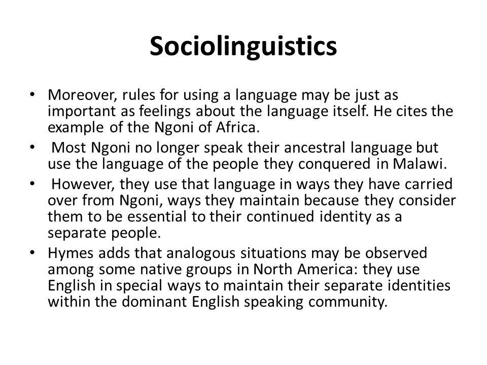 sociolinguistics dialect and language The handbook of japanese sociolinguistics (volume editors: yoshiyuki asahi, mayumi usami, and fumio inoue) 1 editors' profiles yoshiyuki asahi (phd, osaka.