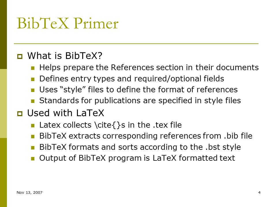 Bibtex bibliography styles
