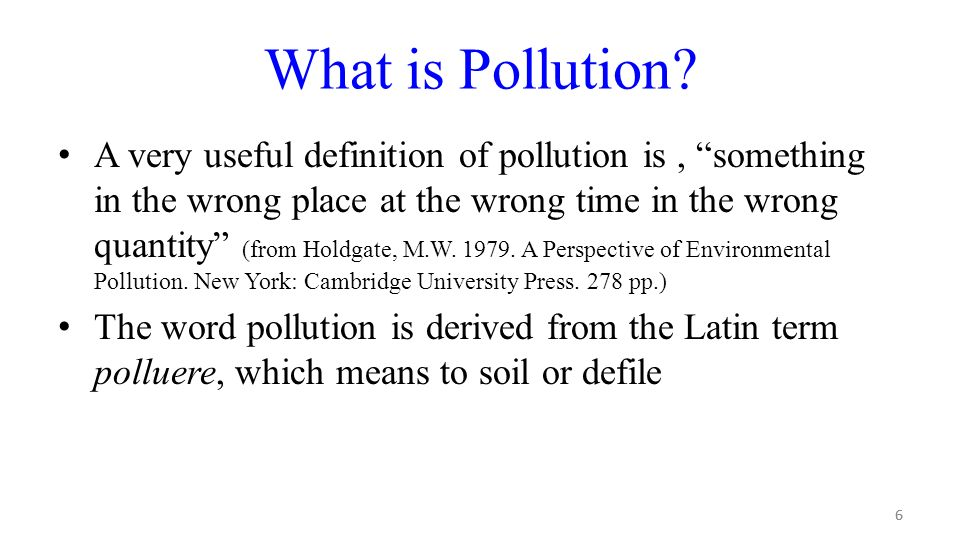 Off site impacts affecting water ppt download for Soil pollution definition
