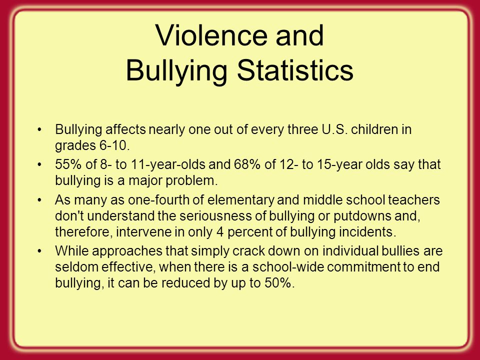 how bullying affects an individual Verbal, physical, and cyber bullying all have detrimental effects on the  personality and esteem of the individual for both the bully and the victim of  bullying  you is, how does cyber bullying affect kids physically and mentally.