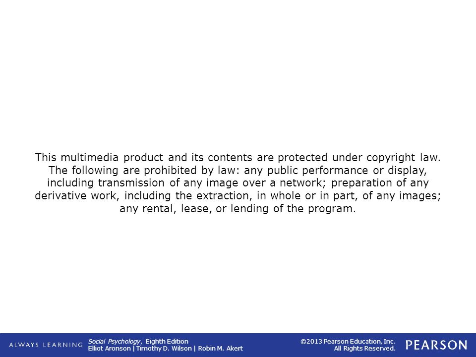 This multimedia product and its contents are protected under copyright law.