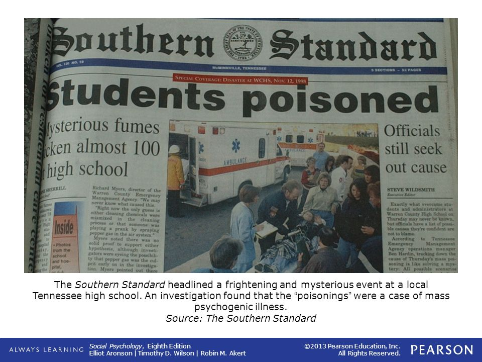 The Southern Standard headlined a frightening and mysterious event at a local Tennessee high school.