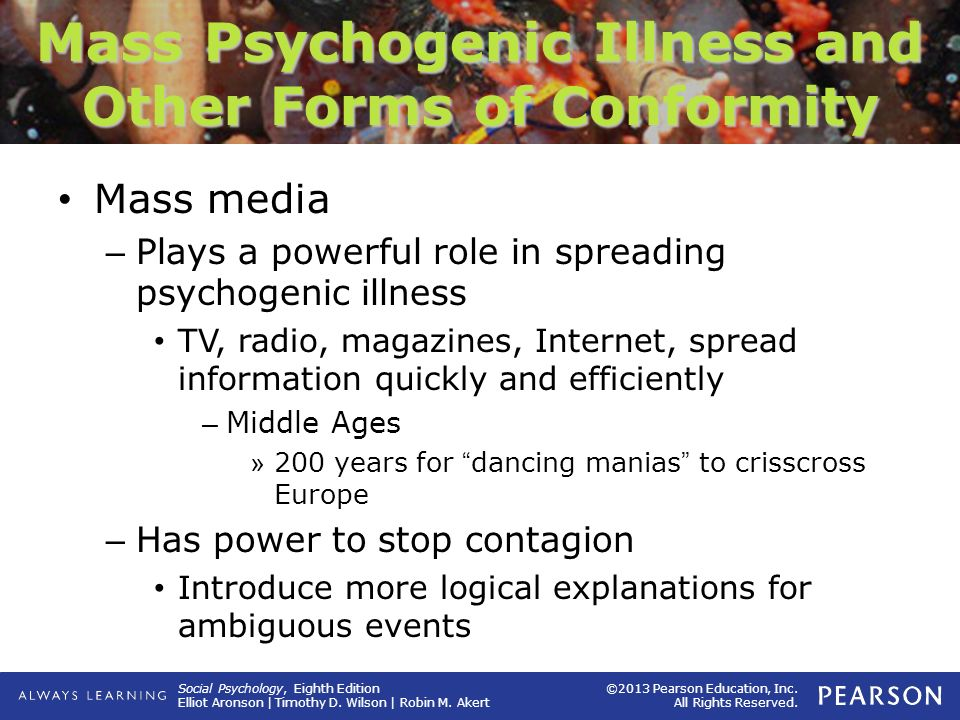 Mass Psychogenic Illness and Other Forms of Conformity