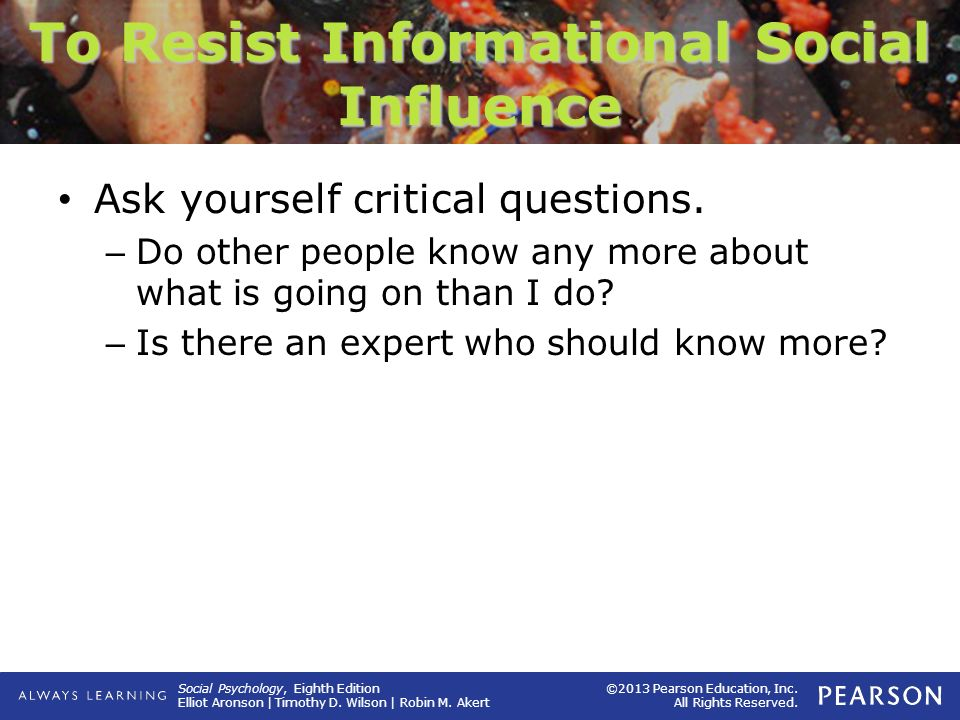 To Resist Informational Social Influence