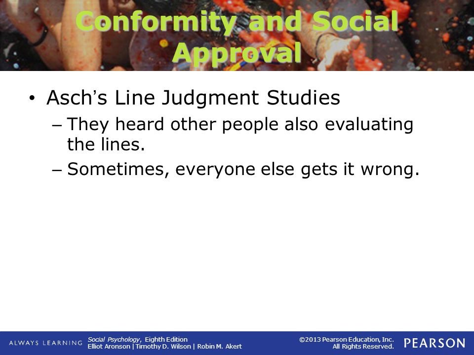 Conformity and Social Approval