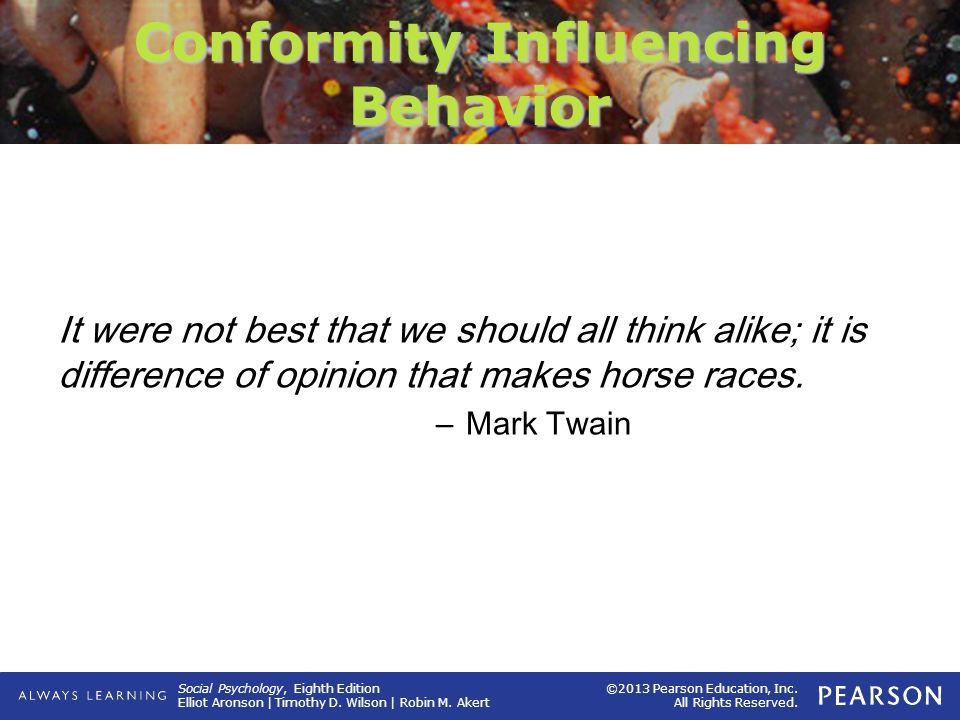 Conformity Influencing Behavior