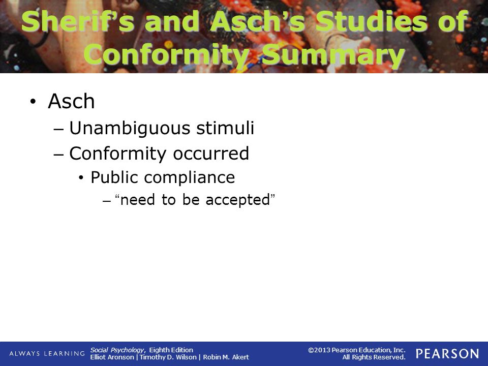 Sherif's and Asch's Studies of Conformity Summary