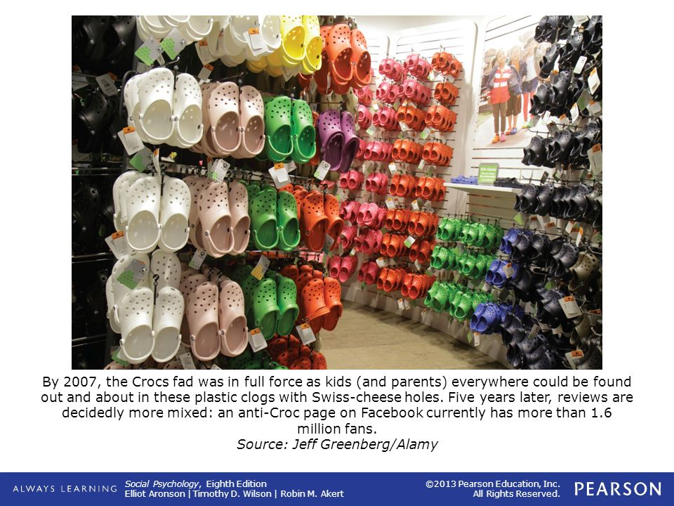 By 2007, the Crocs fad was in full force as kids (and parents) everywhere could be found out and about in these plastic clogs with Swiss-cheese holes.
