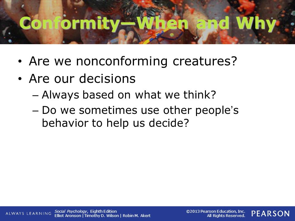 Conformity—When and Why