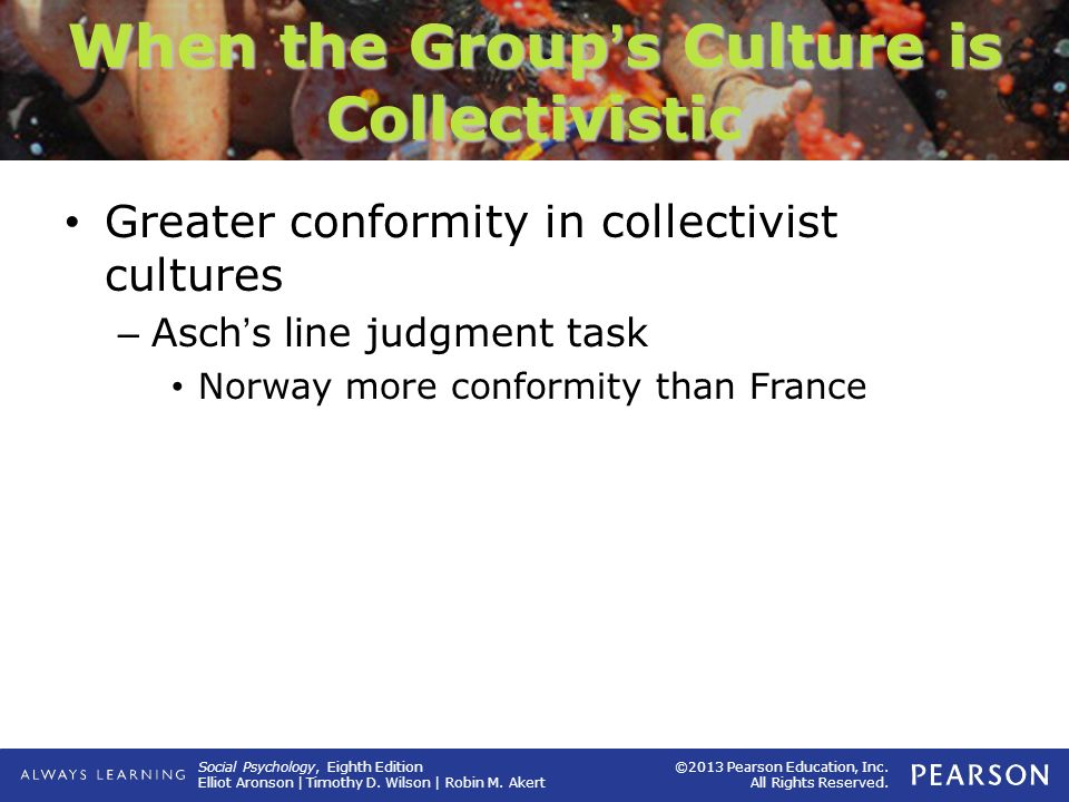 When the Group's Culture is Collectivistic