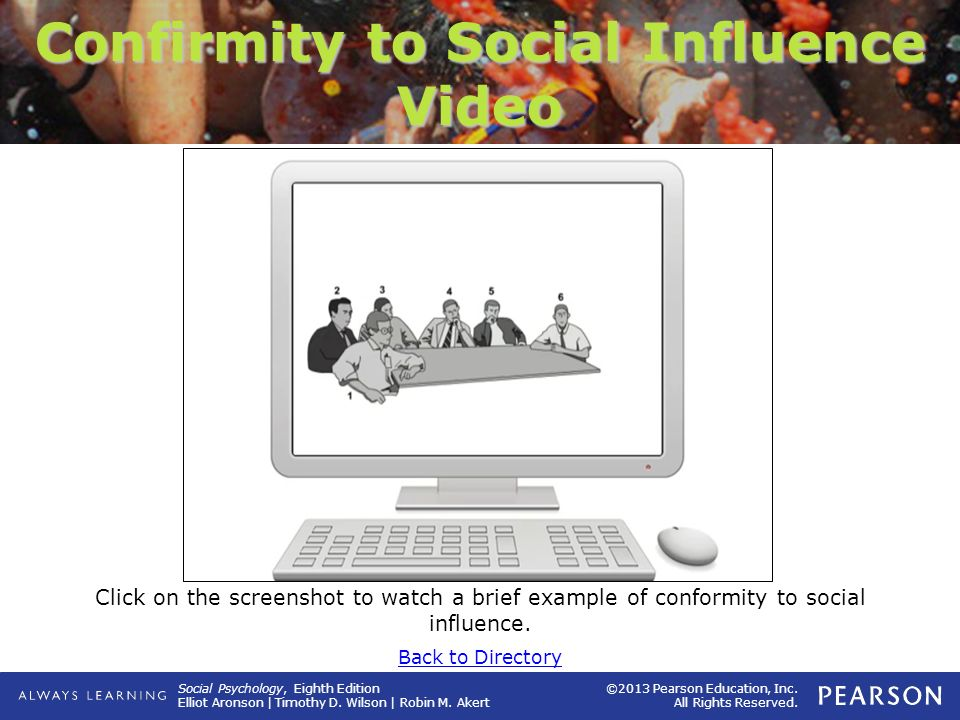 Confirmity to Social Influence Video