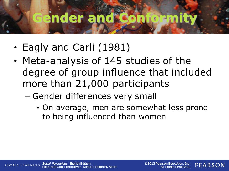 Gender and Conformity Eagly and Carli (1981)