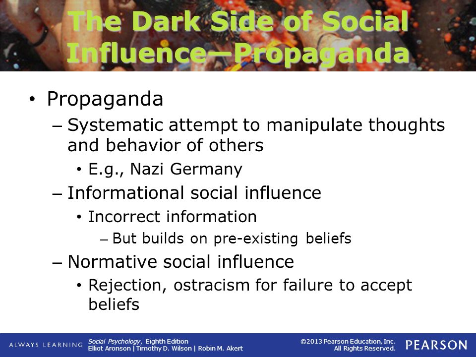 The Dark Side of Social Influence—Propaganda