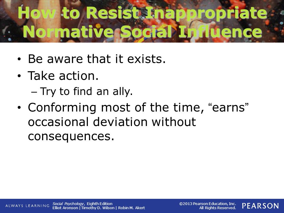 How to Resist Inappropriate Normative Social Influence