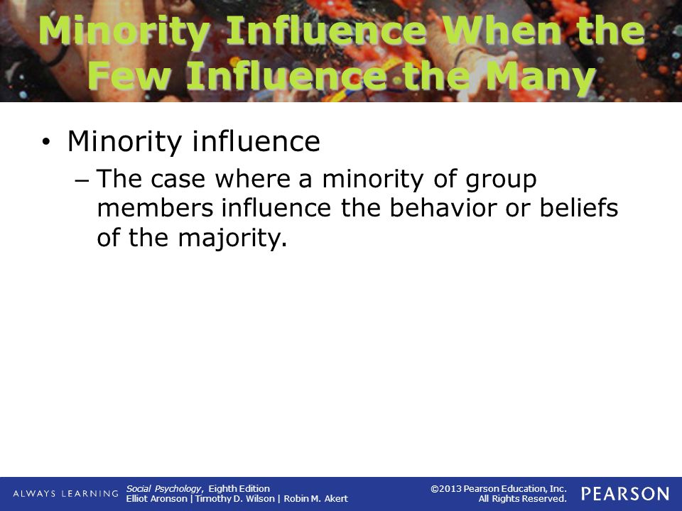 Minority Influence When the Few Influence the Many