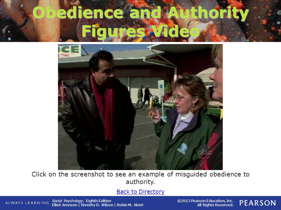 Obedience and Authority Figures Video
