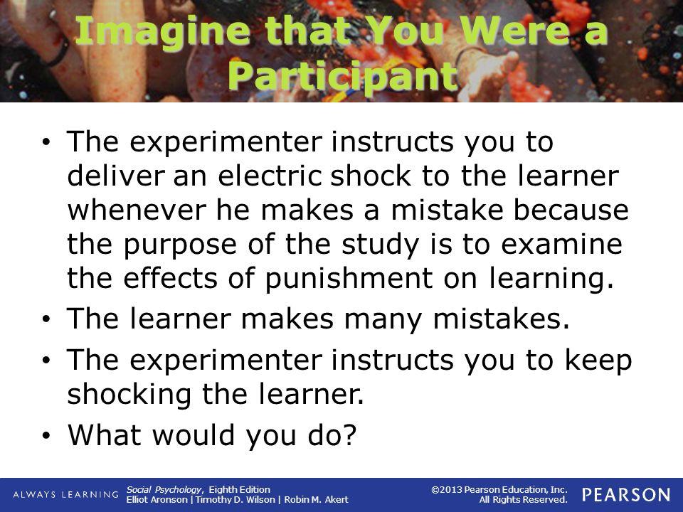 Imagine that You Were a Participant