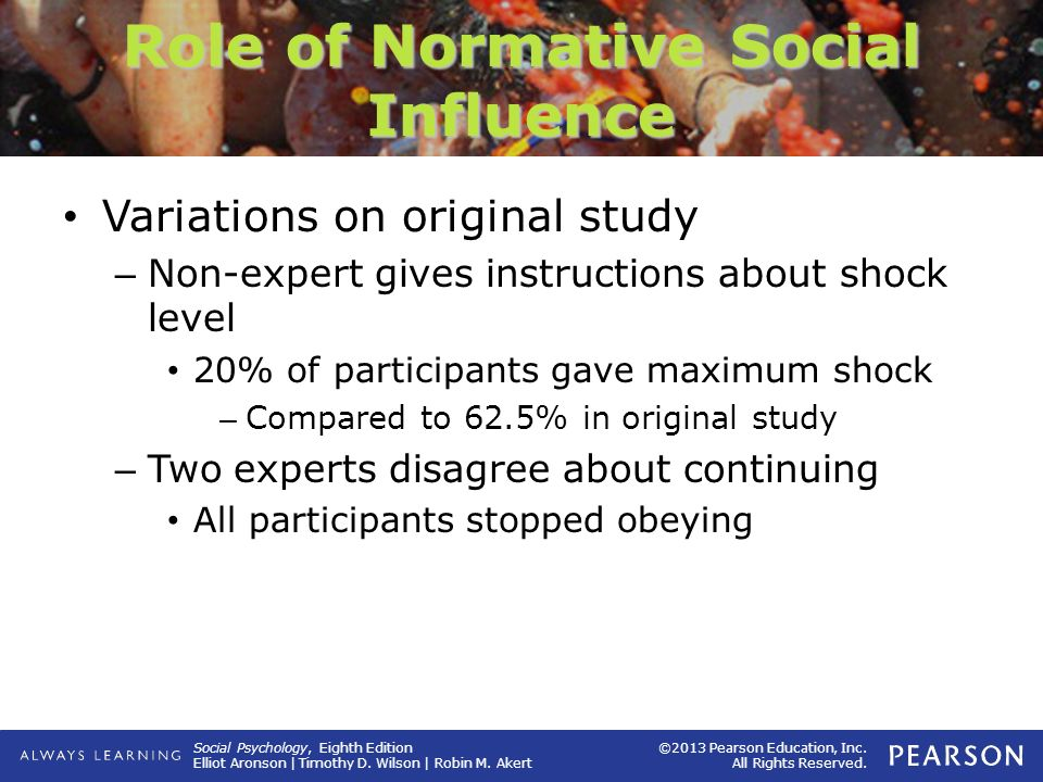Role of Normative Social Influence
