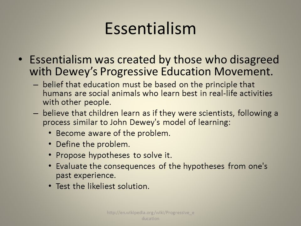 essentialism philosophy In philosophy, essentialism is the view that, for any specific entity (such as a group of people), there is a set of incidental attributes all of.