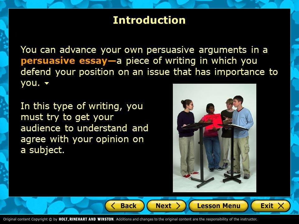 persuasive essay intro help