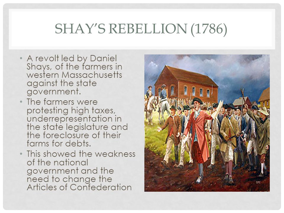 a report and assessment of the daniel shay rebellion Amazoncom: shays's rebellion: the american revolution's final battle ( 9780812218701): leonard l richards: books  during the bitter winter of 1786 -87, daniel shays, a modest farmer and  nipped in the bud, here is the most  concise analysis of how the best of men who fought the war for  |comment| report abuse.