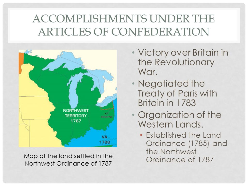 a look at the successes of the articles of confederation The articles of confederation: the bad, the good, and shay's rebellion lack of power and money because of the unbalanced powers in the government and states the .