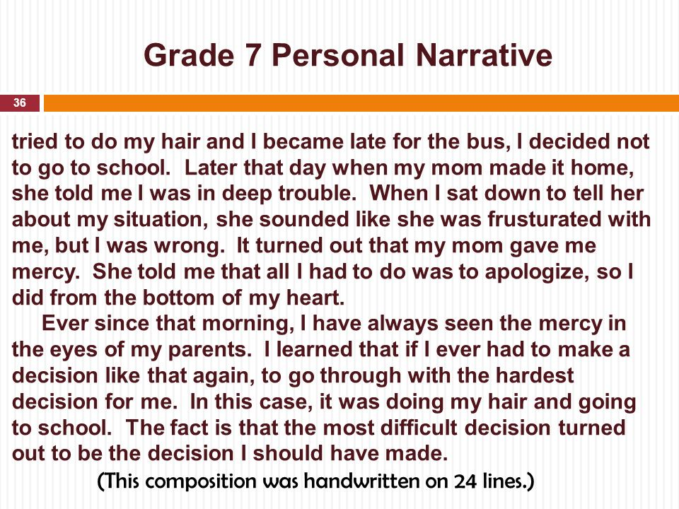 Narrative Essay The Best Decision I Ever Made – 275403