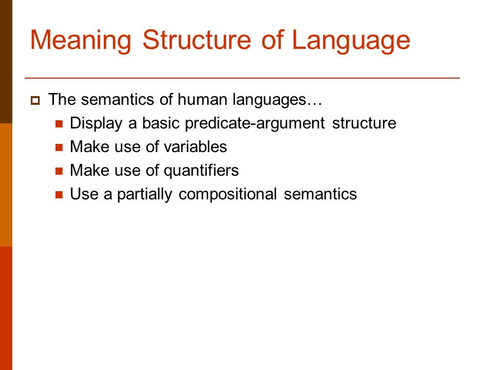 Language and structure