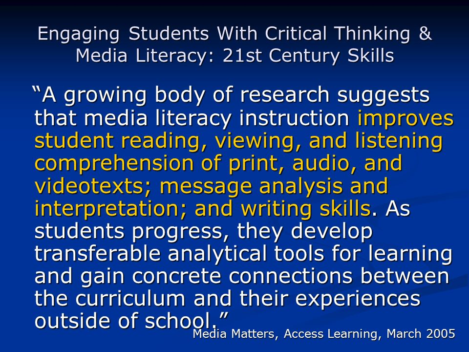 Active Learning Strategies to Promote Critical Thinking