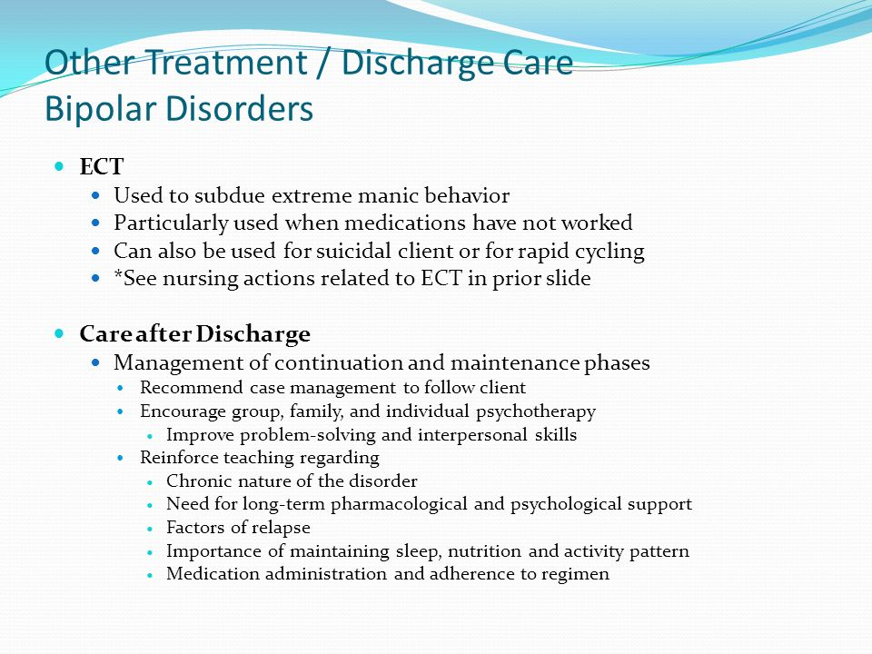 maintenance treatment of bipolar disorder essay Search for more papers by this author ,  suppes t, rudas n: effects of rate of discontinuing lithium maintenance treatment in bipolar disorders.