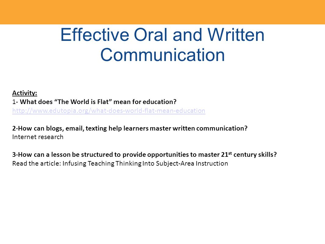 case study oral communication skills