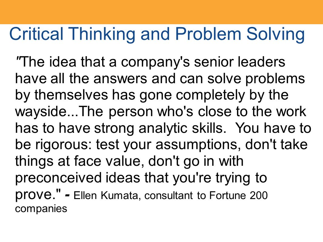 critical thinking problems and answers