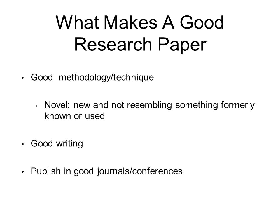 what makes a good thesis for a research paper