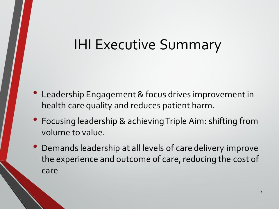 Executive Summary 18 - Learning and Leadership