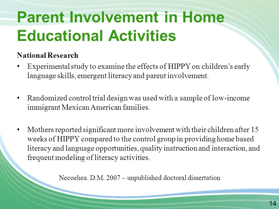 parental involvement in education dissertation Parental involvement is considered crucial for children education essay this assignment will discuss the involvement of parents in children educational achievement it will open with an examination of what parental involvement means and what is involves.