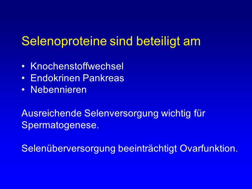 Selenoproteine sind beteiligt am